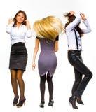 Dança das meninas do negócio imagem de stock royalty free