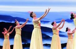 Dança das mulheres para comemorar o liubocheng (1892 12 4— 1986 10 7) Imagem de Stock Royalty Free