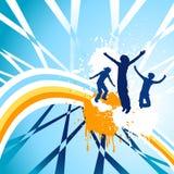 Dança das silhuetas Foto de Stock Royalty Free