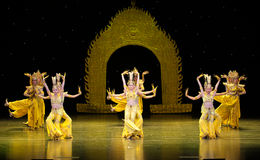Dança de Avalokitesvara imagem de stock royalty free