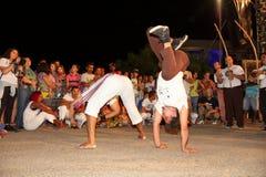 Dança de Capoeira e festival de artes marciais em Petrolina Brasil Foto de Stock Royalty Free