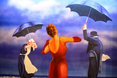 Dança de chuva Imagem de Stock Royalty Free