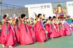Dança de Coreia Foto de Stock