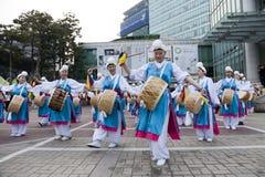 Dança de Coreia Imagens de Stock Royalty Free