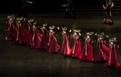 Dança de corte da dança 3-Classical de Geiger fotos de stock