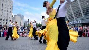 Dança de Cuople, exposição 2014 dos esportes, Kiev, Ucrânia filme