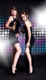 Dança de duas mulheres Foto de Stock Royalty Free