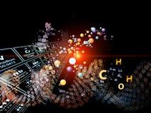 Dança de elementos químicos Fotos de Stock
