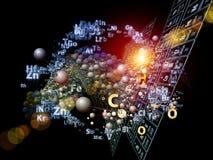 Dança de elementos químicos Imagem de Stock Royalty Free