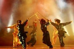 Dança de espada Fotos de Stock Royalty Free