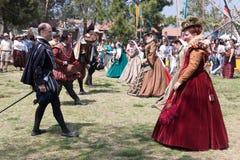 Dança de Faire do renascimento Fotografia de Stock Royalty Free