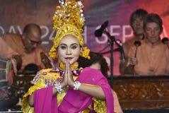 Dança de Gamelan Timang Burung Foto de Stock