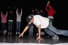 Dança de Hip Hop fotografia de stock