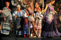 Dança de Hopak em Ucrânia foto de stock royalty free