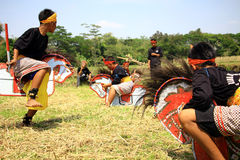 Dança de Jathilan Fotografia de Stock Royalty Free