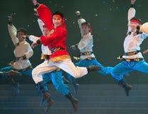 Dança de Mongólia: o corcel correu Fotos de Stock Royalty Free