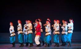 Dança de Mongólia: o corcel correu Fotografia de Stock Royalty Free