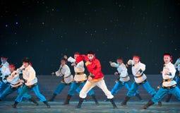 Dança de Mongólia: o corcel correu Fotografia de Stock