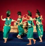 Dança de Phloy Suoy, Camboja Imagem de Stock Royalty Free