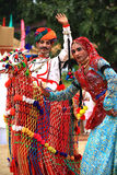 Dança de Rajasthani Imagem de Stock