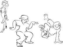 Dança de ruptura Imagens de Stock