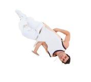 Dança de ruptura da dança do adolescente na ação Foto de Stock Royalty Free