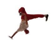 Dança de ruptura da dança do adolescente na ação Imagem de Stock Royalty Free