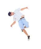 Dança de ruptura da dança do adolescente na ação Foto de Stock