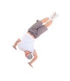 Dança de ruptura da dança do adolescente na ação Fotografia de Stock Royalty Free