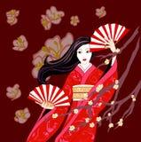 Dança de Sakura Fotos de Stock Royalty Free