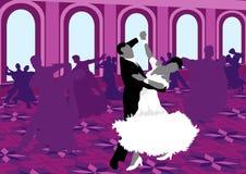 Dança de salão. Imagem de Stock