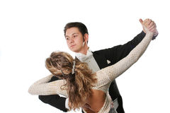 Dança de salão de baile Fotografia de Stock Royalty Free