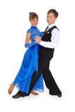 Dança de salão de baile da dança do menino e da menina imagem de stock royalty free