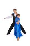 Dança de salão de baile da dança do menino e da menina fotografia de stock