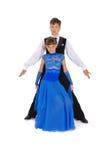 Dança de salão de baile da dança do menino e da menina foto de stock royalty free