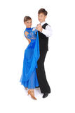 Dança de salão de baile da dança do menino e da menina imagem de stock