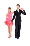 Dança de salão de baile da dança do menino e da menina Foto de Stock