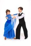 Dança de salão de baile da dança do menino e da menina Imagens de Stock