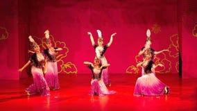 Dança de Xinjiang imagem de stock royalty free
