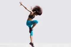 Dança desportiva da menina Foto de Stock