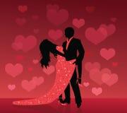 Dança do amor. Imagens de Stock