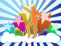 Dança do céu Fotografia de Stock