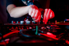 Dança do clube de noite do disco Fotografia de Stock