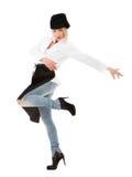 Dança do cozinheiro chefe do cozinheiro Imagem de Stock Royalty Free