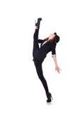 Dança do dançarino da mulher Fotos de Stock