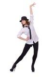 Dança do dançarino da mulher Foto de Stock