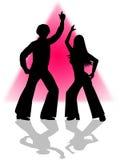 Dança do disco Fotografia de Stock