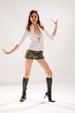 Dança do disco da mulher Fotografia de Stock Royalty Free