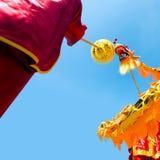 Dança do dragão Fotografia de Stock Royalty Free