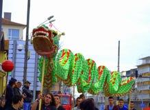 Dança do dragão do carnaval imagem de stock royalty free